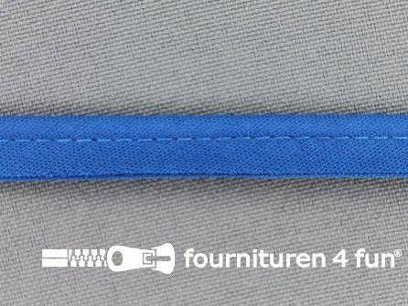 Rol 25 meter katoenen paspelband 10mm donker aqua blauw