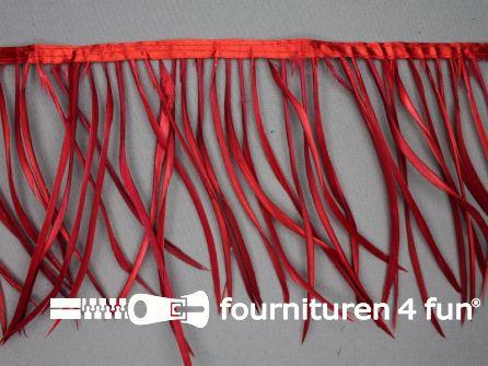 Hanenveren band 150mm rood 95cm
