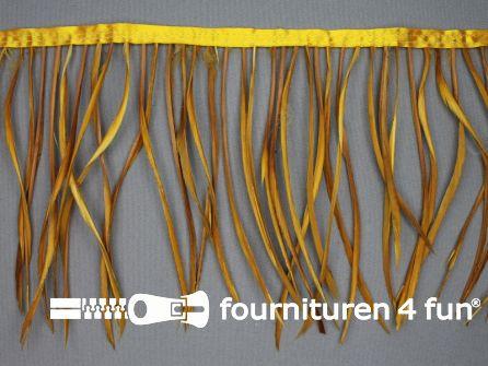 Hanenveren band 150mm oker geel 95cm