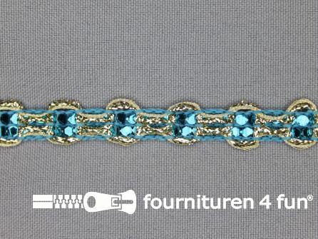Party band 11mm aqua blauw