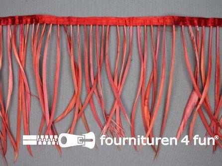 Hanenveren band 150mm koraal rood 95cm