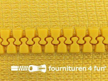 Niet deelbare bloktand rits 6mm mais geel