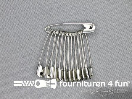Veiligheidsspelden 45mm zilver doosje 1200 stuks