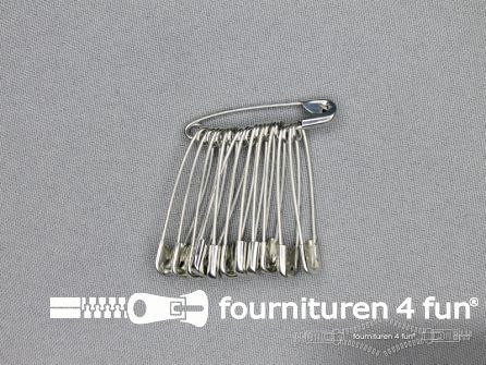 Veiligheidsspelden 38mm zilver doosje 1200 stuks