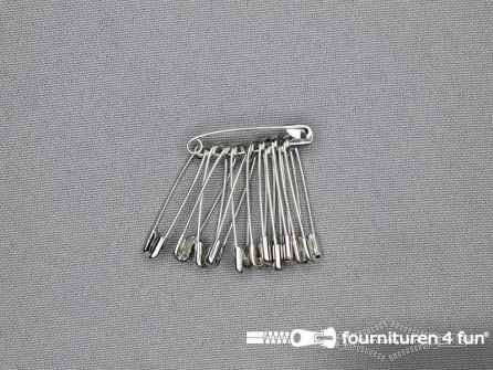 Veiligheidsspelden 28mm zilver doosje 1200 stuks