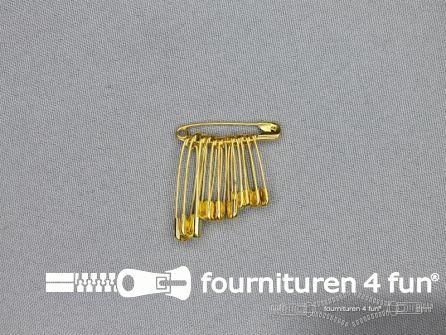 Veiligheidsspelden assortiment goud doosje 1200 stuks