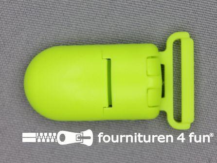 Kunststof clips 20mm neon geel