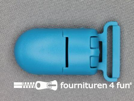 Kunststof clips 20mm aqua blauw