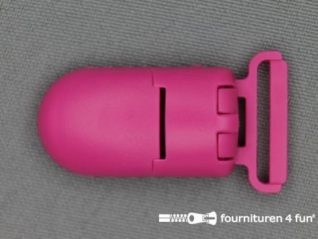 Kunststof clips 20mm fuchsia roze