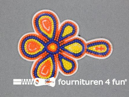 Kunststof applicatie 85x68mm multicolor