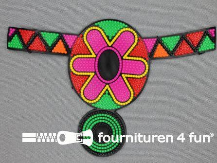 Kunststof applicatie 142x95mm multicolor