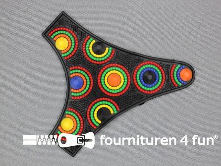 Kunststof applicatie 105x98mm multicolor