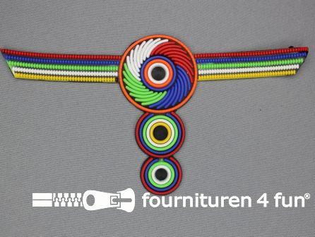 Kunststof applicatie 90x178mm multicolor