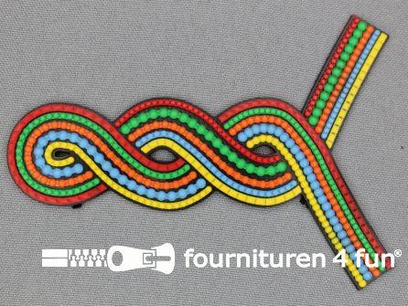 Kunststof applicatie 75x105mm multicolor