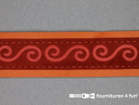 Skai band 30mm brique oranje