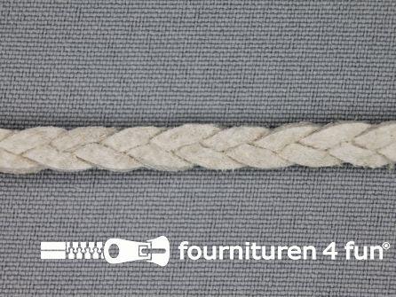 Suede gevlochten band 6mm licht grijs