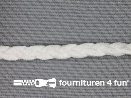 Suede gevlochten band 6mm wit