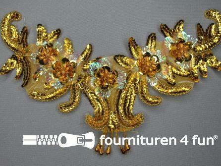 Pailletten applicatie 285x175mm inzetstuk goud