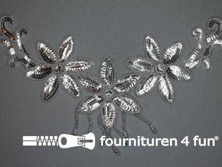 Pailletten applicatie 330x210mm inzetstuk zilver