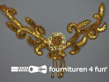 Pailletten applicatie 270x175mm inzetstuk goud