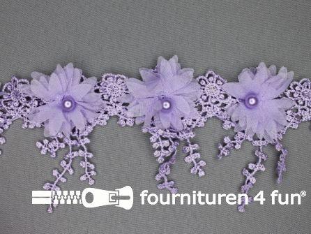 Bloemen franje 90mm lila