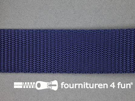 Parachute band 25mm donker blauw