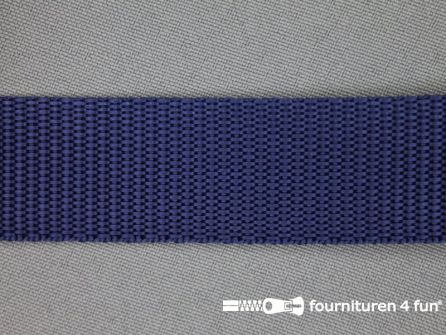 Rol 30 meter parachute band 25mm donker blauw
