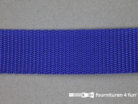 Parachute band 25mm kobalt blauw