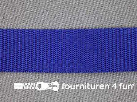 Rol 30 meter parachute band 25mm kobalt blauw