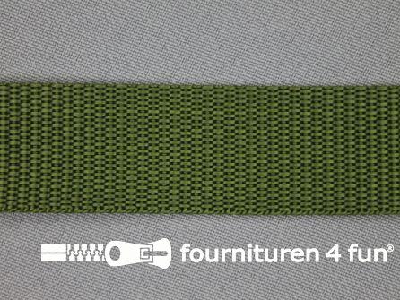 Parachute band 25mm leger groen
