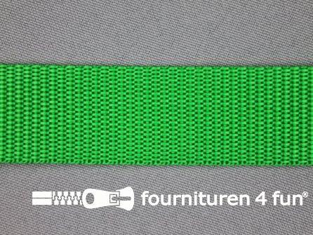 Rol 30 meter parachute band 25mm gras groen