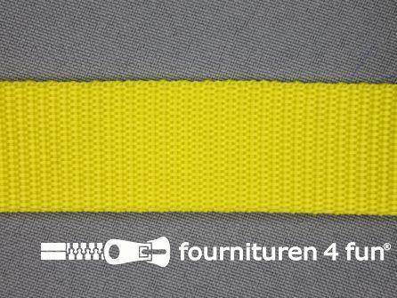 Parachute band 25mm geel