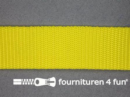 Rol 30 meter parachute band 25mm geel