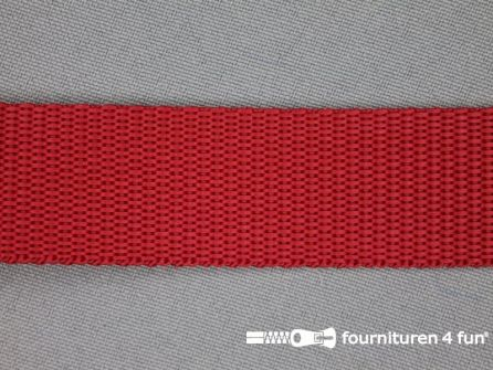 Rol 30 meter parachute band 25mm rood