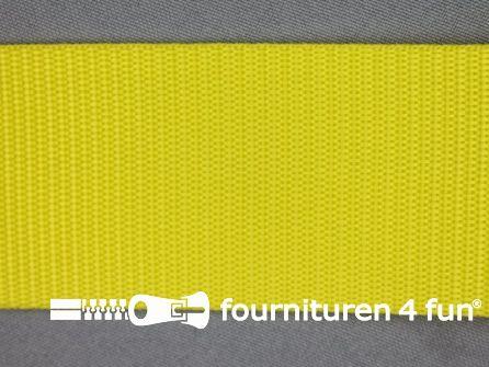 Rol 30 meter parachute band 50mm geel