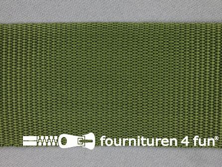 Parachute band 50mm leger groen