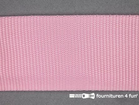Rol 30 meter parachute band 50mm roze