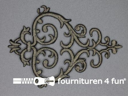 Barok applicatie 100x140mm zwart goud