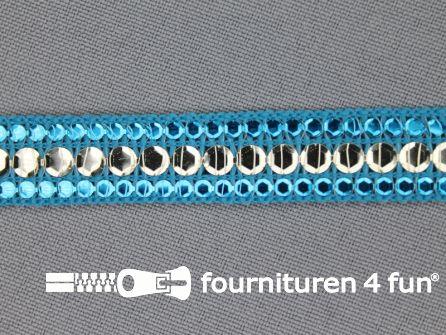 Party band 15mm aqua blauw