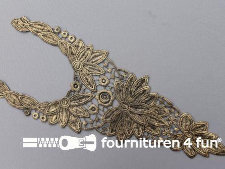 Opzet stuk voor hals / kraag zwart goud 200x530mm