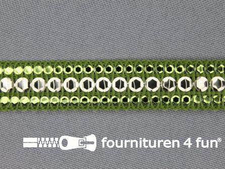 100 meter party band 15mm olijf groen