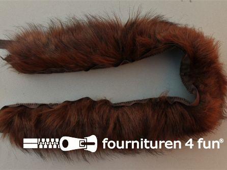 Bont rand 70cm donker bruin
