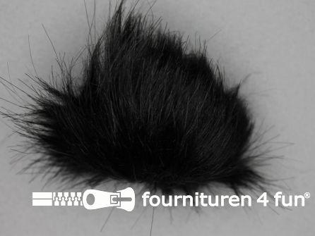 Bont pompon 8cm zwart