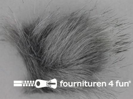 Bont pompon 8cm middengrijs