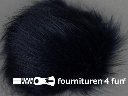 Bont pompon 12cm donker blauw