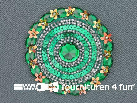 Broche 80-85mm emerald groen