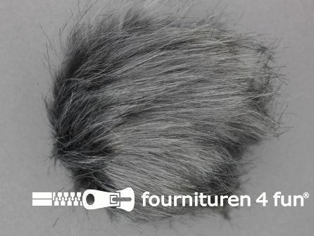 Bont pompon 15cm grijs