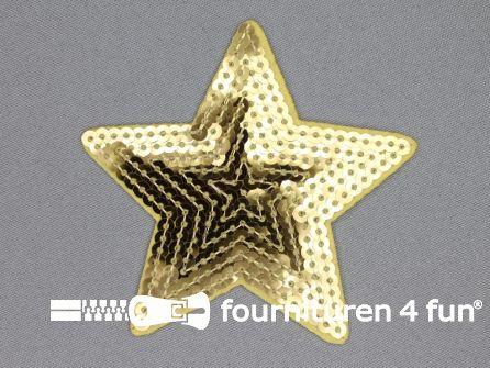 Pailletten applicatie 90x90mm ster goud