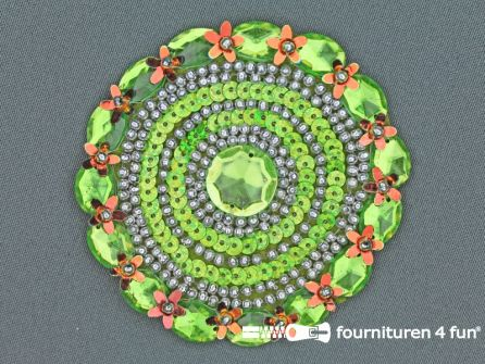 Broche 80-85mm lime groen