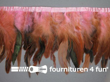 Two tone color verenband 160mm licht roze - bruin
